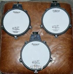 3 PACK Roland V Drums PD-85 Electronic 8 TOM / SNARE Dual Trigger Mesh pads