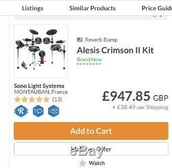 Alesis Crimson2 9 piece mesh electronic drum kit