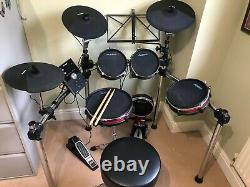 Alesis Crimson Mesh Electronic Drum Kit with Mapex kick drum pedal and stool