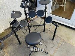 Alesis DM Lite Electronic Drum Kit with stool drumsticks and headphones boxed