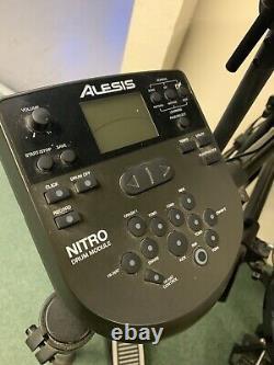 Alesis Nitro Electric Electronic Digital Drum Kit Set With Stool And Sticks