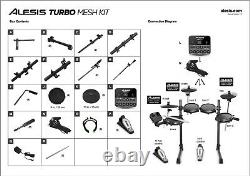 Alesis Turbo Mesh Electronic Drum Kit Excellent condition and offer