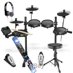 Alesis Turbo Mesh Kit 7 Piece Electronic Drum Kit Stool, Headphones Rockstix 2