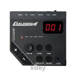 Carlsbro CSD100R Electronic Drum Kit 7 Piece Set, Stool and Headphones