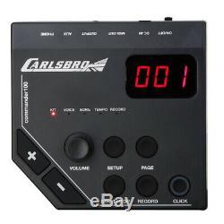 Carlsbro CSD100 Digital Drum Kit Electronic Electric, Practice Sticks, Headphone