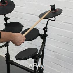 Carlsbro CSD100 R 7 Piece Electronic Drum Kit Silent USB Digital Drum Machine