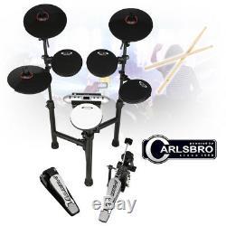Carlsbro CSD130 Electronic Drum Kit 8 Piece MIDI Sticks, Headphones, Stool