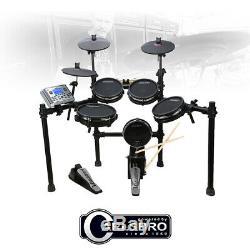 Carlsbro CSD400 Electronic Drum Kit 8 Piece Digital Set MESH Head Pads USB MIDI