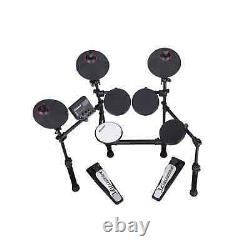 Carlsbro CS D100 Bundle 7-Piece Electronic Drum Kit with Drum Stool & Headphones