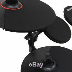 Digital Drum Kit Electronic Electric Pads, Practice Sticks, Headphones & Stool