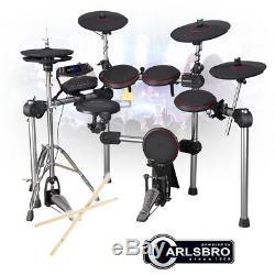 Digital Drum Kit Electronic Electric Pads, Practice Sticks, Headphones and Stool