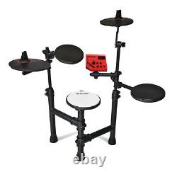 Electric Drum Kit Electronic Set 5-Piece Jazz Style, Stool, Headphones & Sticks