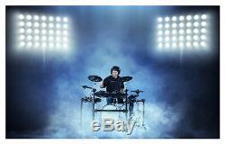 Electronic Drum Kit 10 Mesh Pads Wooden Shell E-Drum 720 Sounds USB MIDI Moduls