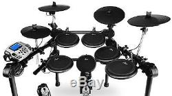 Electronic Drum Kit 5 Dual Zone Pads 4 Cymbals Pedal Sticks Rack Sound Module