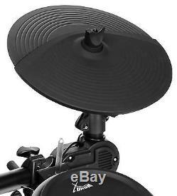 Electronic Drum Kit Percussion Set 8 Pad Rack 458 Sounds Module Pedals AUX USB