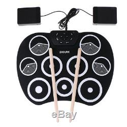 Electronic Drum Kit Portable Electric Drum Set with Sticks Students Beginner