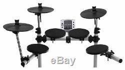 Electronic Drum Set E-Drum Kit LED Sound Module Pedals Headphones Sticks Stool