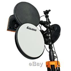 Foldable Electric Drum Kit Electronic Digital Pads, with Stool & Headphones Set
