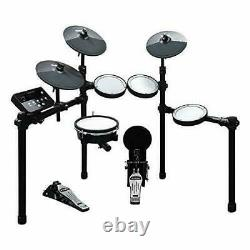 HXW SD61-5 Mesh Kit Electric Drum Set 8-Piece Electronic Drum Kit, With Easy Ass