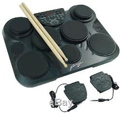 Johnny Brook Electronic Portable Drum Machine Kit + 7 Drum Pads & 2 Foot Pedals