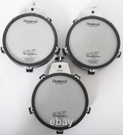 Mesh Drum Pads Roland PD-85 x3 Dual Zone Trigger Electronic Kit Snare Drum Toms