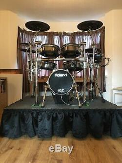 ROLAND TD30KV Electronic / Electric Drum Kit With Extras & Flight Cases