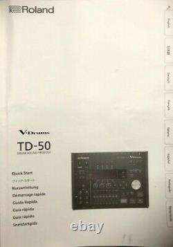 ROLAND TD50 V Drums Electronic Drum Kit Rarely Used