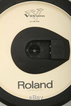 Roland CY-15R Electronic 3 Zone Ride Cymbal Trigger Pad + Boom Arm Clamp & Leads