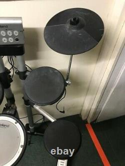 Roland Hd-1 Electric Electronic Digital Drum Kit Set With Stool And Sticks
