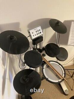 Roland Hd-1 V Electric Electronic Digital Drum Kit Set + Drumsticks, Stool