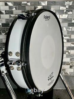 Roland KD-120 Electronic Kick Drum-Great Condition-Vdrums-White-KD 120