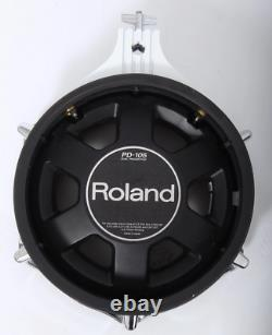 Roland PD-105 WHITE 10 Dual Zone/Trigger Mesh Electronic Drum Pad Electric Kit