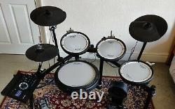 Roland TD17-KV electronic drum kit and Tama drum stool