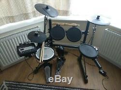 Roland TD-3 V-Drums Electronic Drum Kit. 2 sets of sticks, manuals and CD