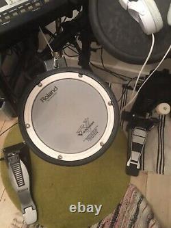 Roland electronic drum kit used