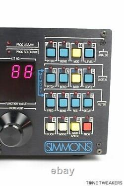 SIMMONS SDS7 Electronic Drum Kit Machine 80s pads module VINTAGE SYNTH DEALER