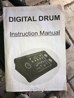Session Pro DD505 Electronic Drum Kit Set (Digital Drum Kit) with Instructions