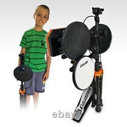 Starter Drum Kit, Stool and Headphones Electronic Digital Set Carlsbro Rock 50