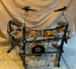 YAMAHA DTXtreme Natural Maple Shells/ Electronic Drumkit with rack, complete NICE