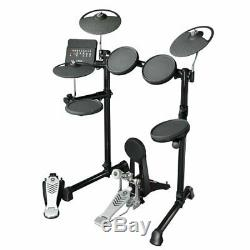 Yamaha DTX450K Electronic Drum Kit with Amp, Stool, Headphones, Sticks & Bag