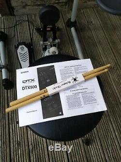 Yamaha DTX500K Electronic Drum Kit DTX500 + Drumstick + Stool Dixon